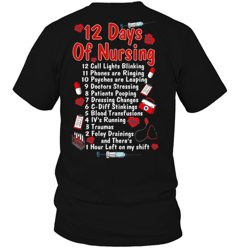 12 Days Of Nursing T-shirt