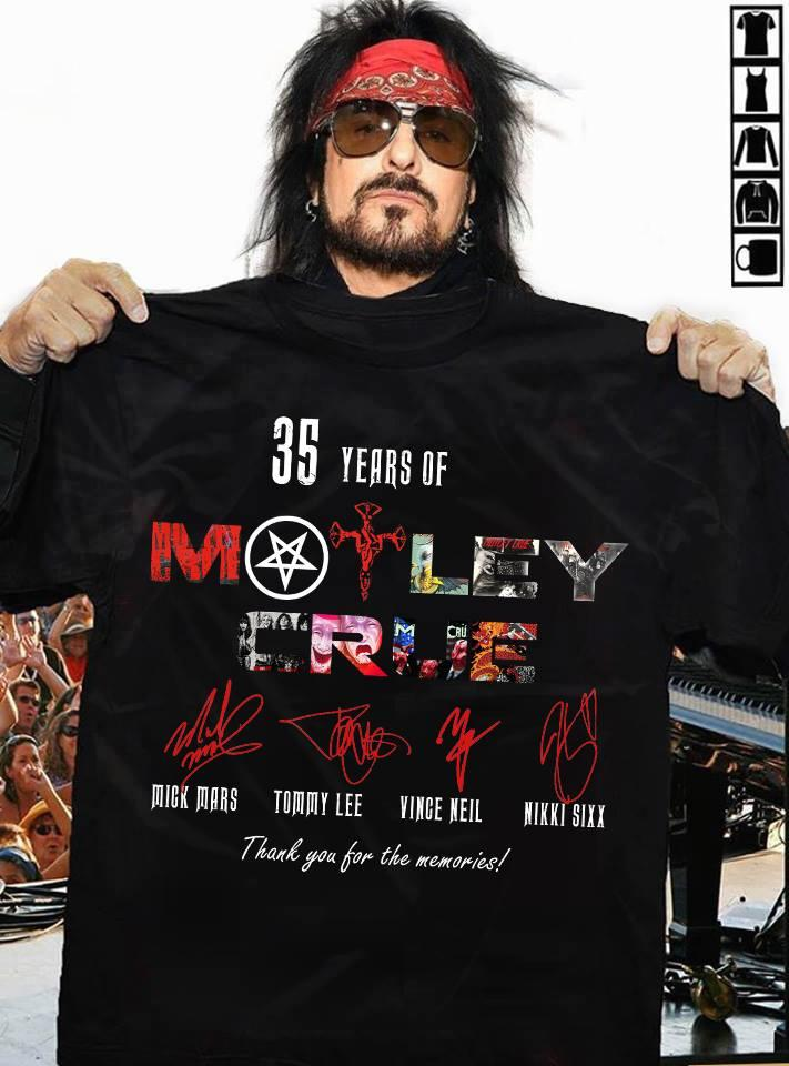 35 Years of Motley Crue Thank You for The Memories Signature Shirt