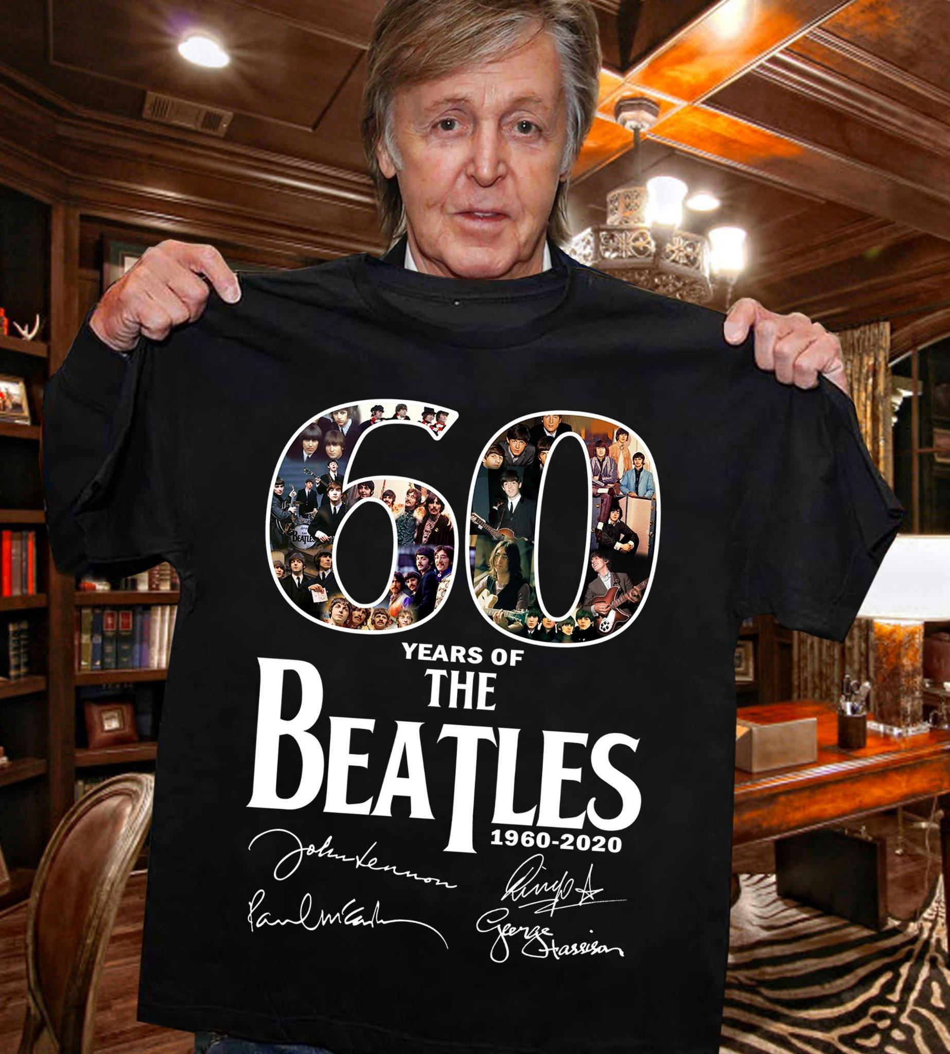 60 Years of The Beatles 1960 2020 Signature T-shirt