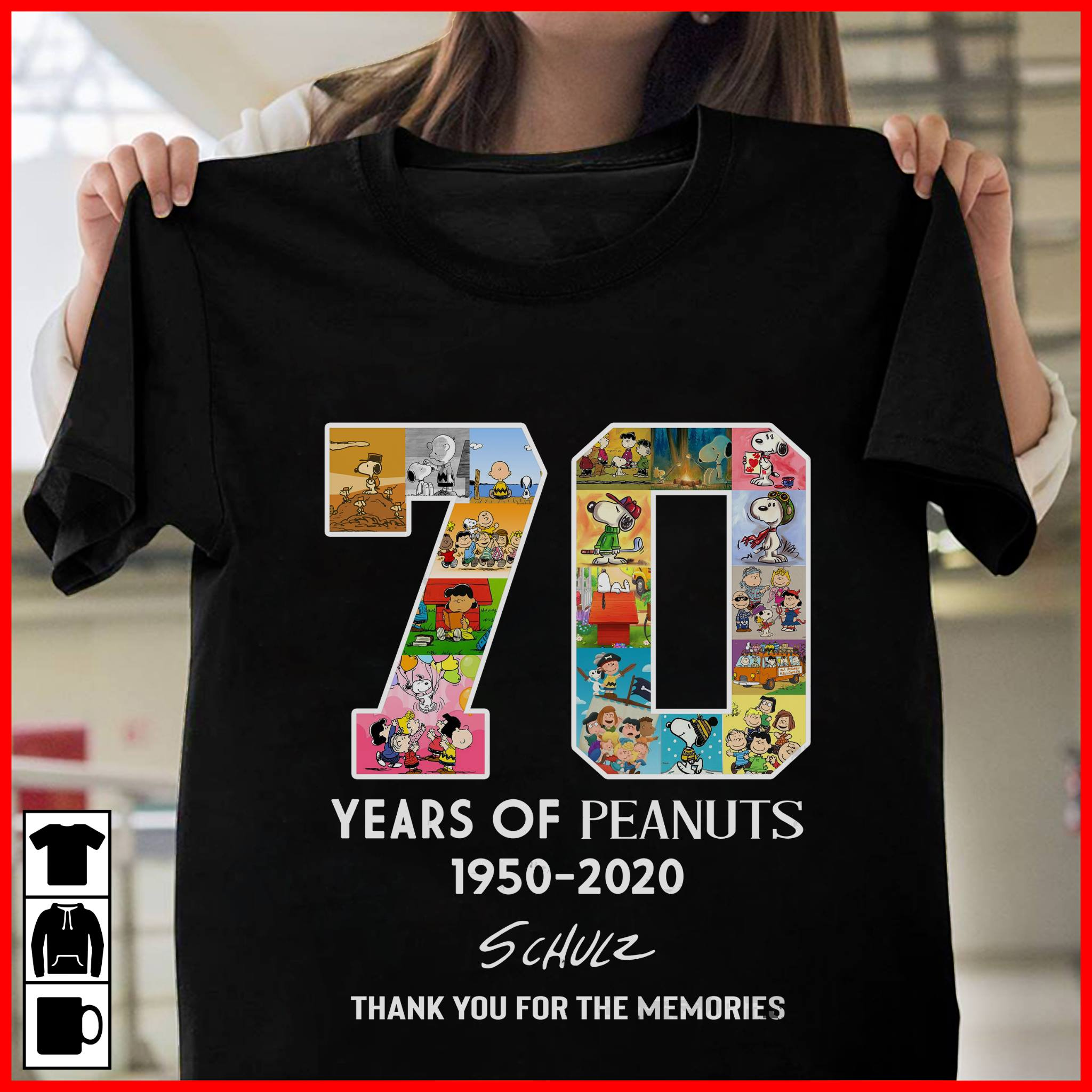 70 Years Of Peanuts 1950 2020 Schulz Shirt