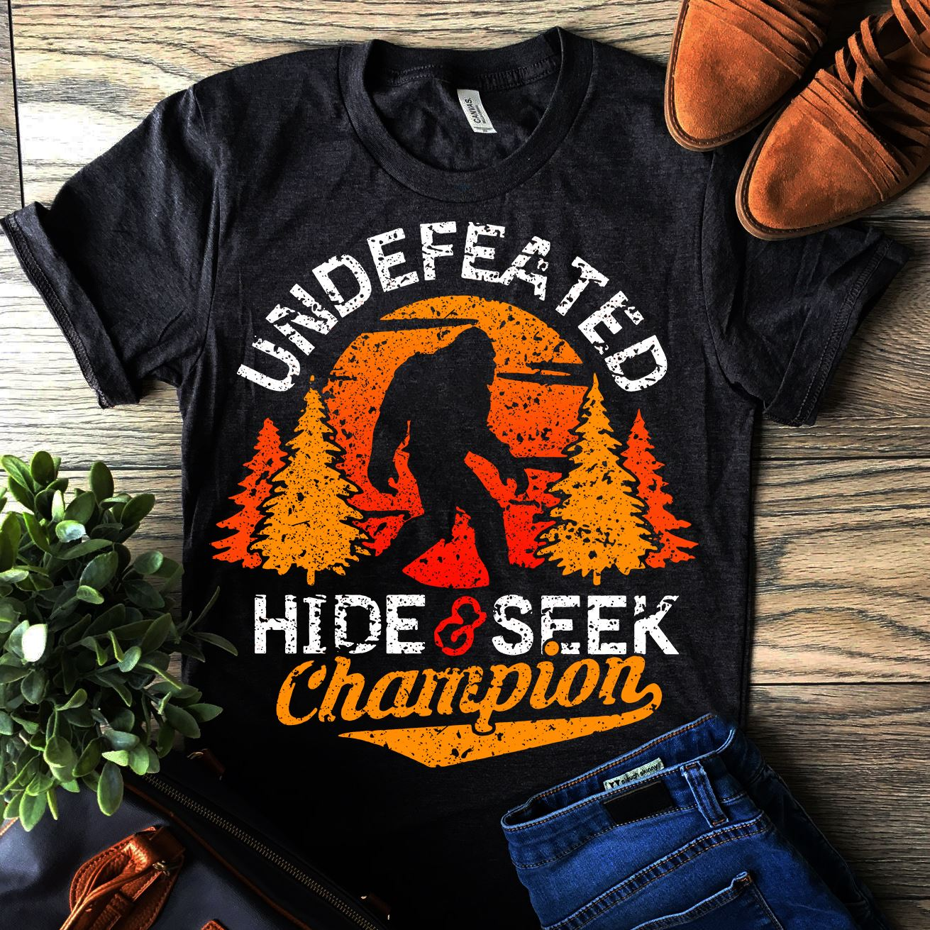Anthropoid Undefeated Hide And SEEK Champion Shirt