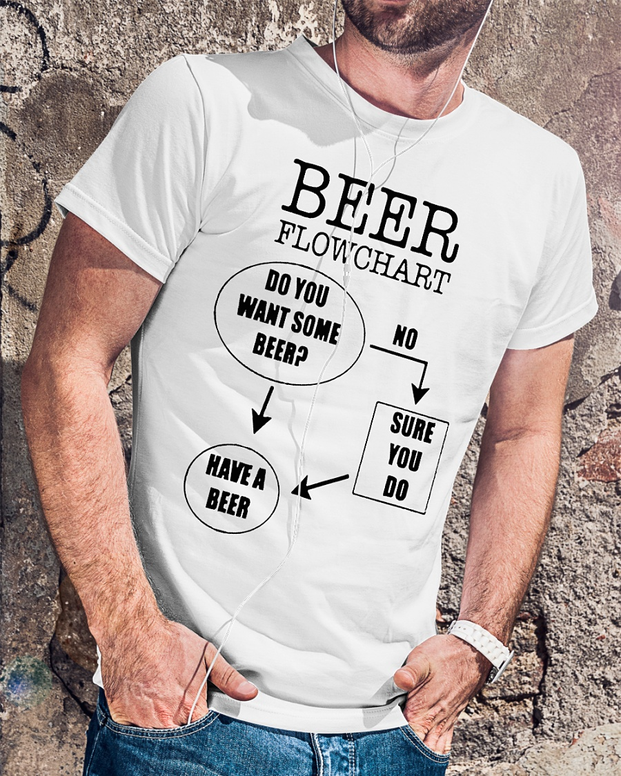 Beer Flowchart Do You Want Some Beer Shirt