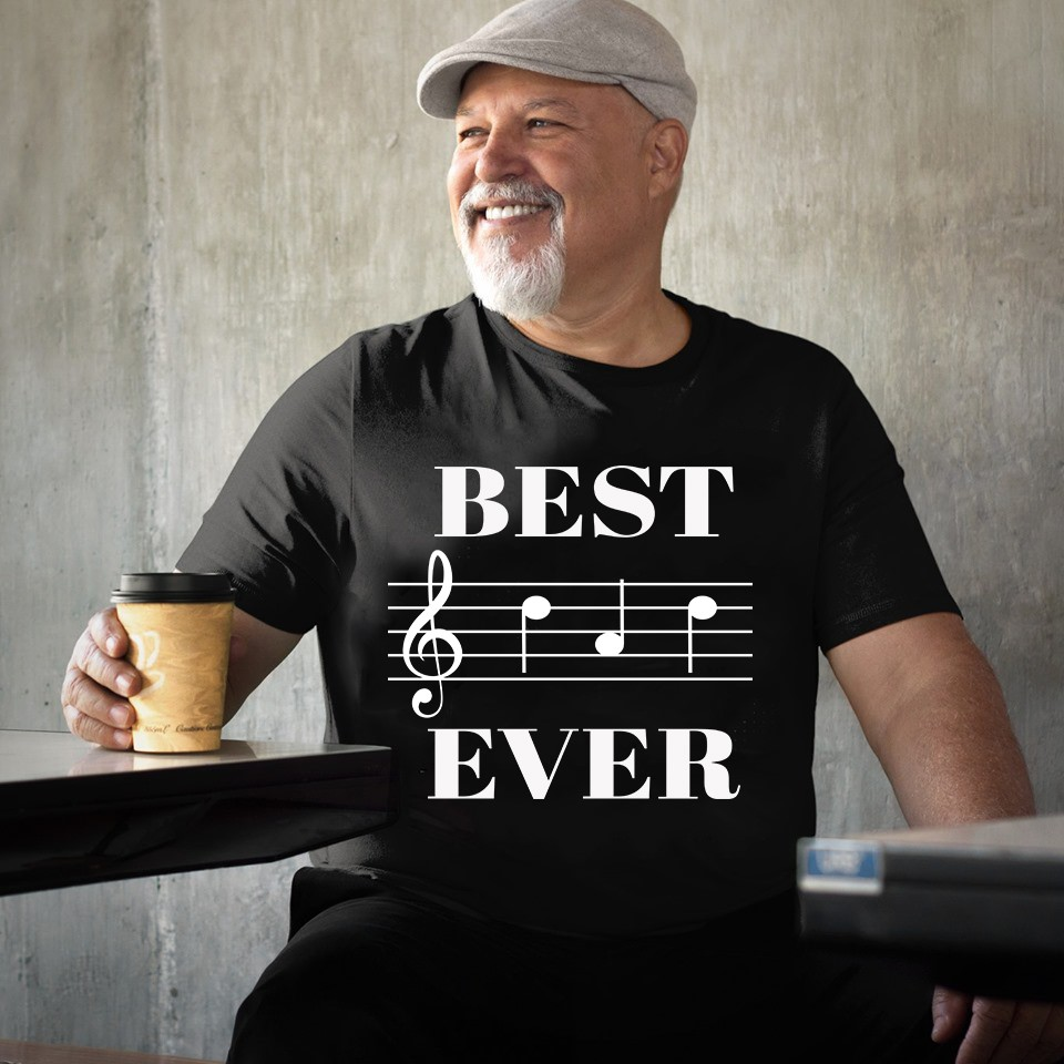 Best Dad Ever Music Note Shirt