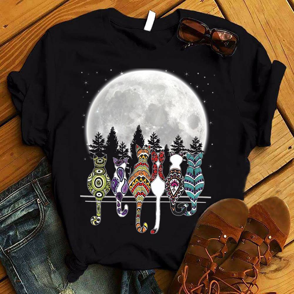 Bohemian Moon Cats Shirt