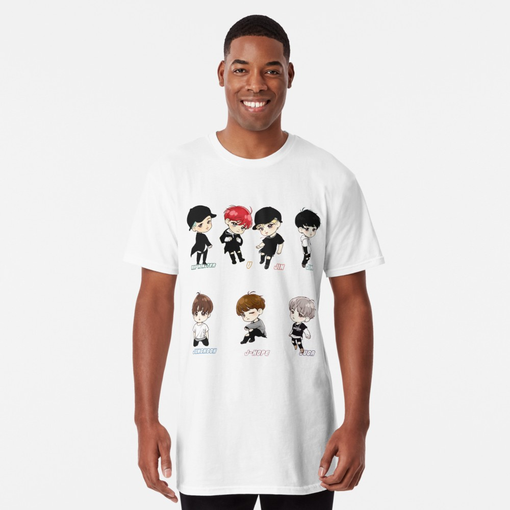 BTS All Member Chibi Shirt