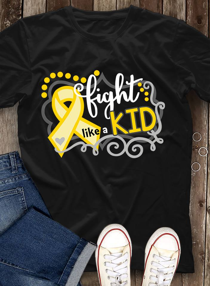 Cancer Various Fight Like A Kid Shirt