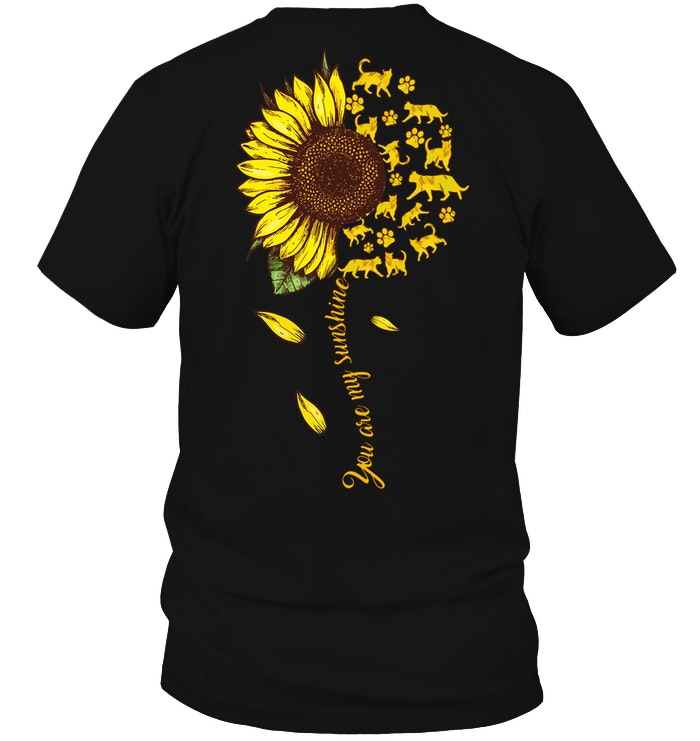 Cats You Are My Sunshine Sunflower Cats Shirt