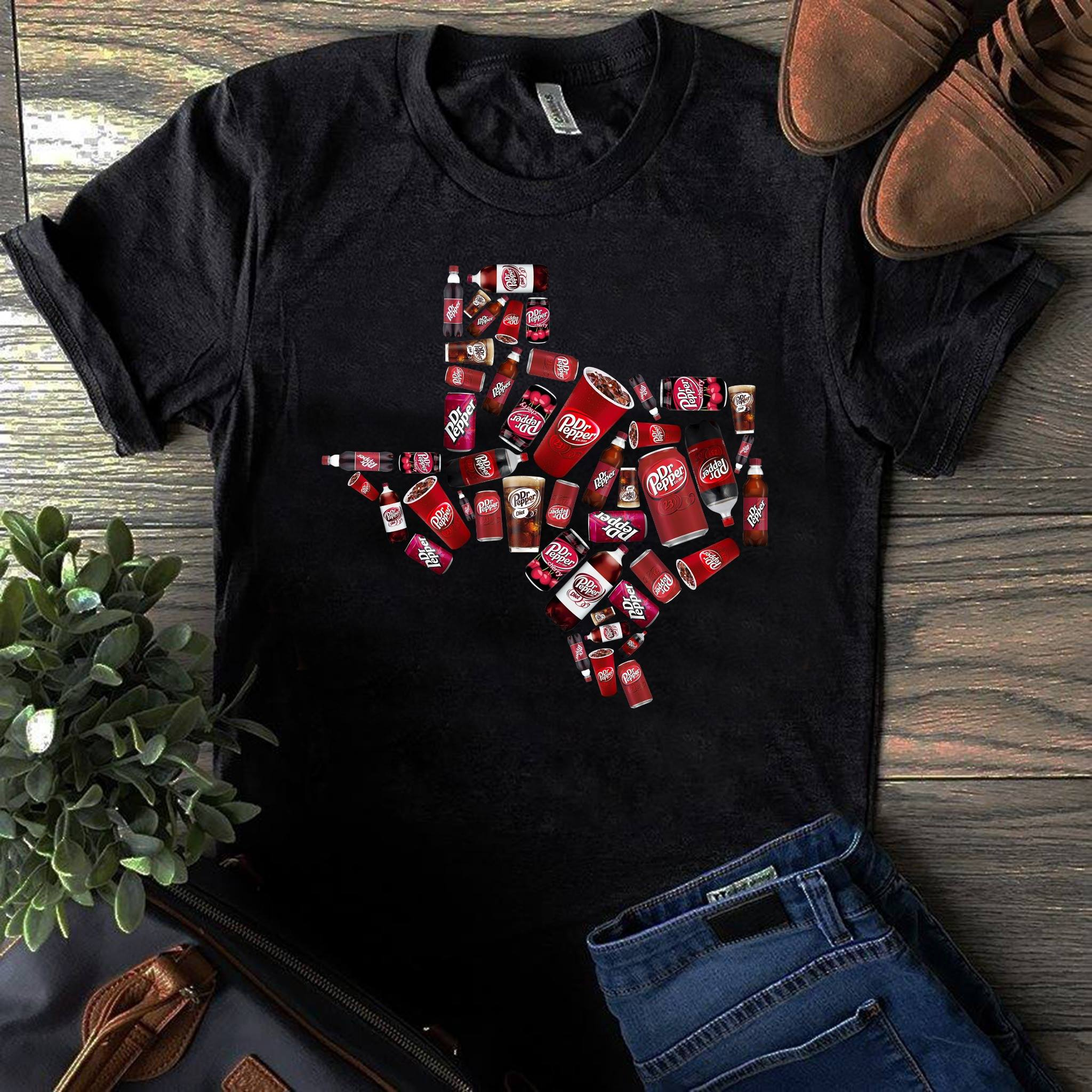Dr Pepper Texas Maps Shirt