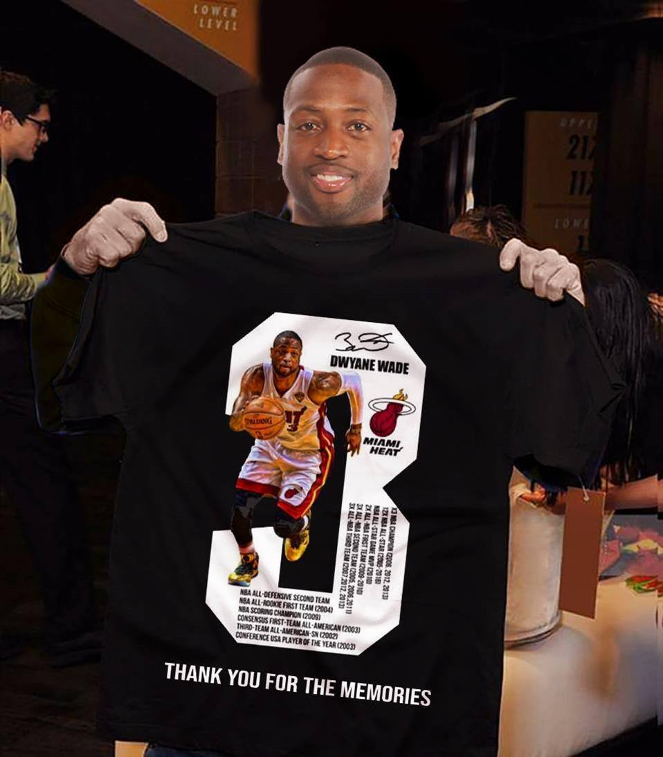 Dwyane Wade Thank You for The Memories Shirt