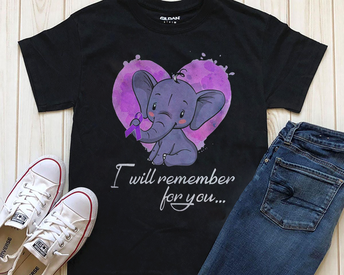 Elephant Breast Cancer I Will Remember for You Shirt