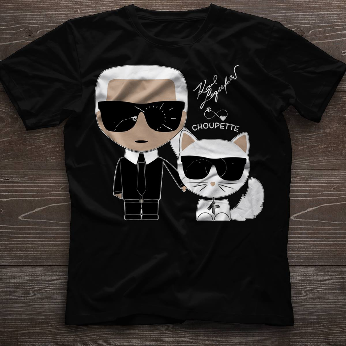 Karl Lagerfeld and Choupette Shirt