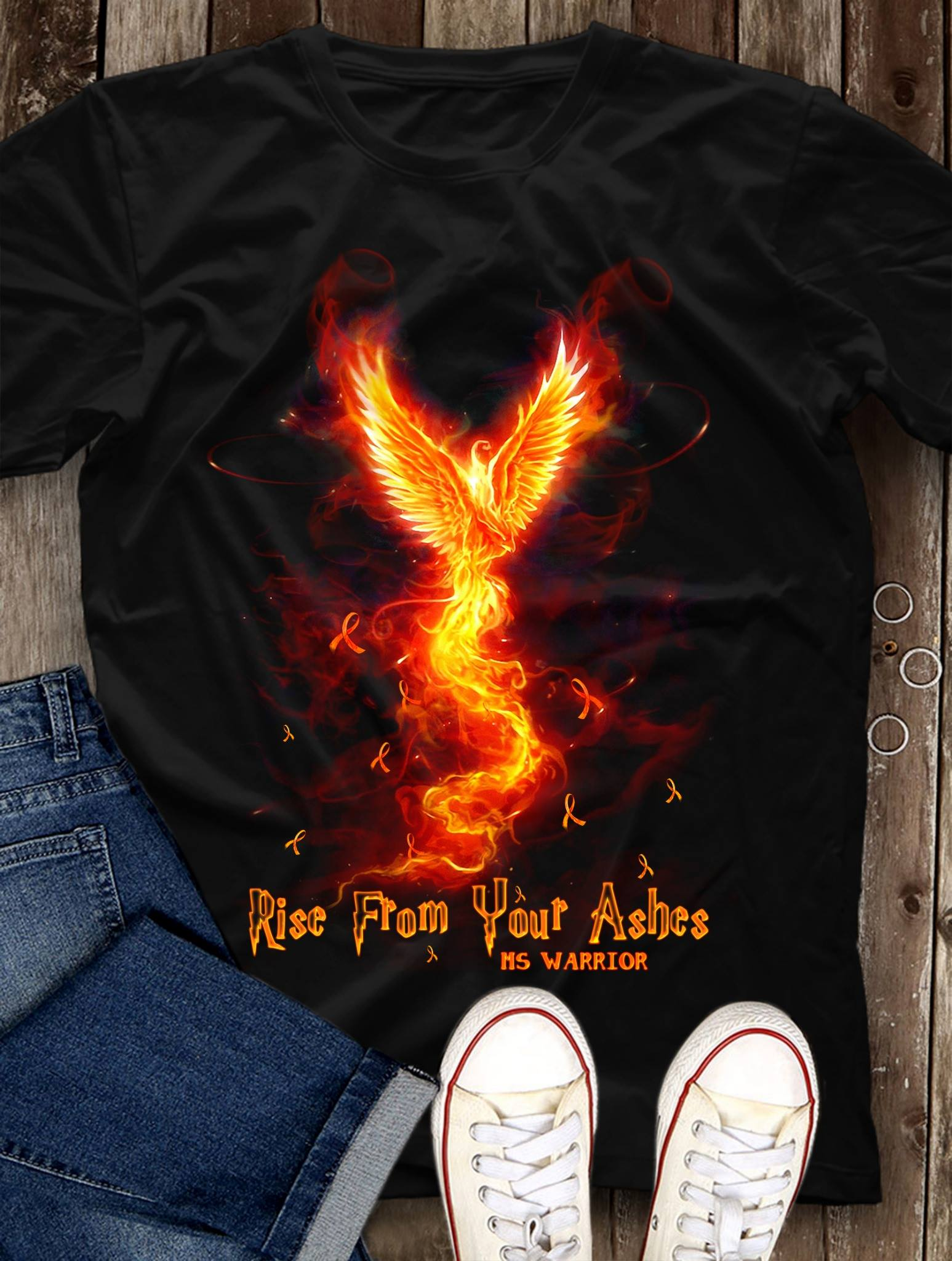 Multiple Sclerosis Rise From Your Ashes MS Warrior Shirt