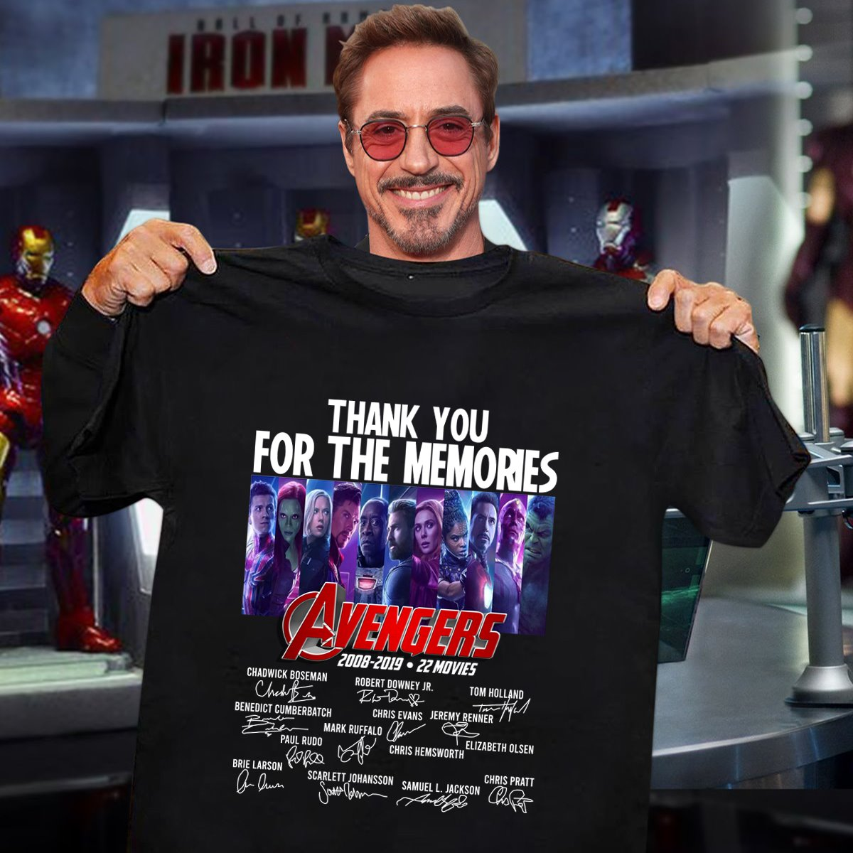 Thanks You For The Memories Avengers 2008 2019 Shirt