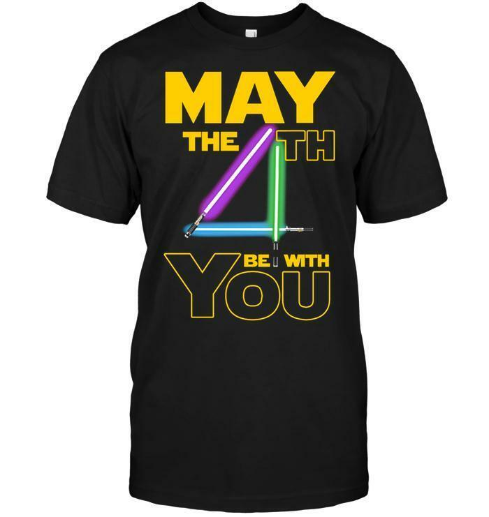 Star Wars May The 4th Be With You Black T-shirt Size M – 3 XL